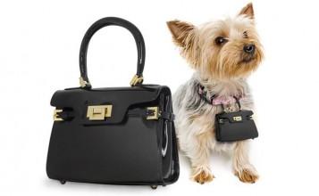"""""""Un lujoso bolso de marca puede ser una atrevida declaración de moda, y aun más si su perro también llevará una réplica en miniatura de tu bolso.""""  Pawbag, bolso de lujo en miniatura para tu perro bolsos de lujo 357x220"""