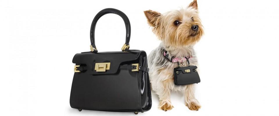 """""""Un lujoso bolso de marca puede ser una atrevida declaración de moda, y aun más si su perro también llevará una réplica en miniatura de tu bolso."""""""