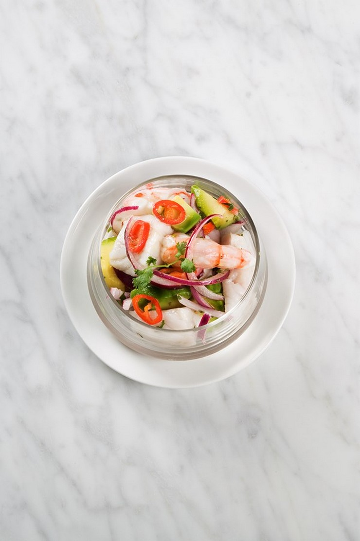 """""""El concepto gastronómico de Saboc """"cocina de temperatura"""", divide su propuesta en cuatro tipos de platos por temperaturas."""" Saboc, cocina minimalista en el barrio del Born restaurante saboc en barcelona 6"""