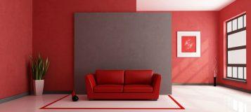 La tendencia minimalista for Casa minimalista roja