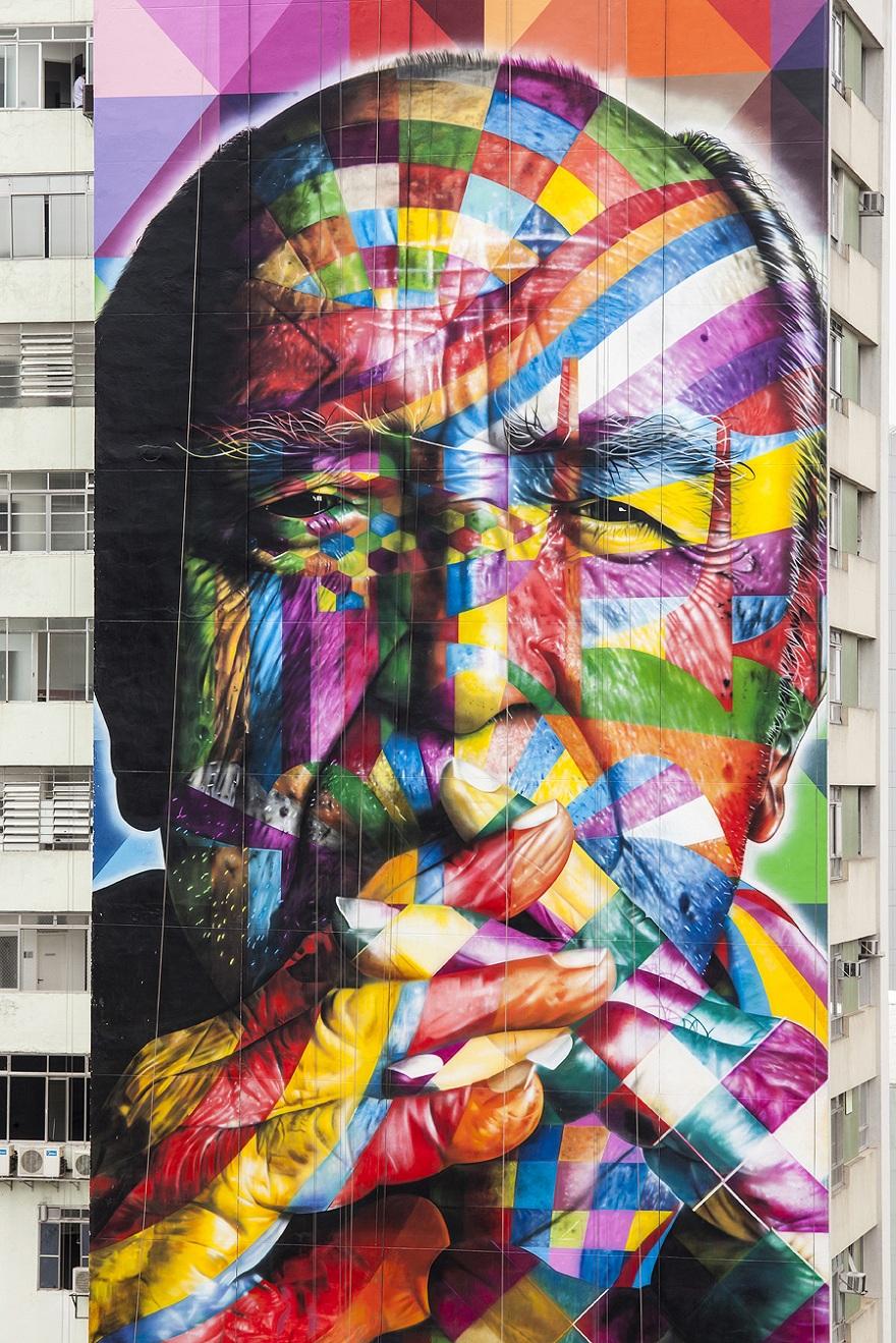 Fantásticas Obras de Arte Urbano Fantásticas Obras de Arte Urbano decorar una casa eduardo kobra mural 1