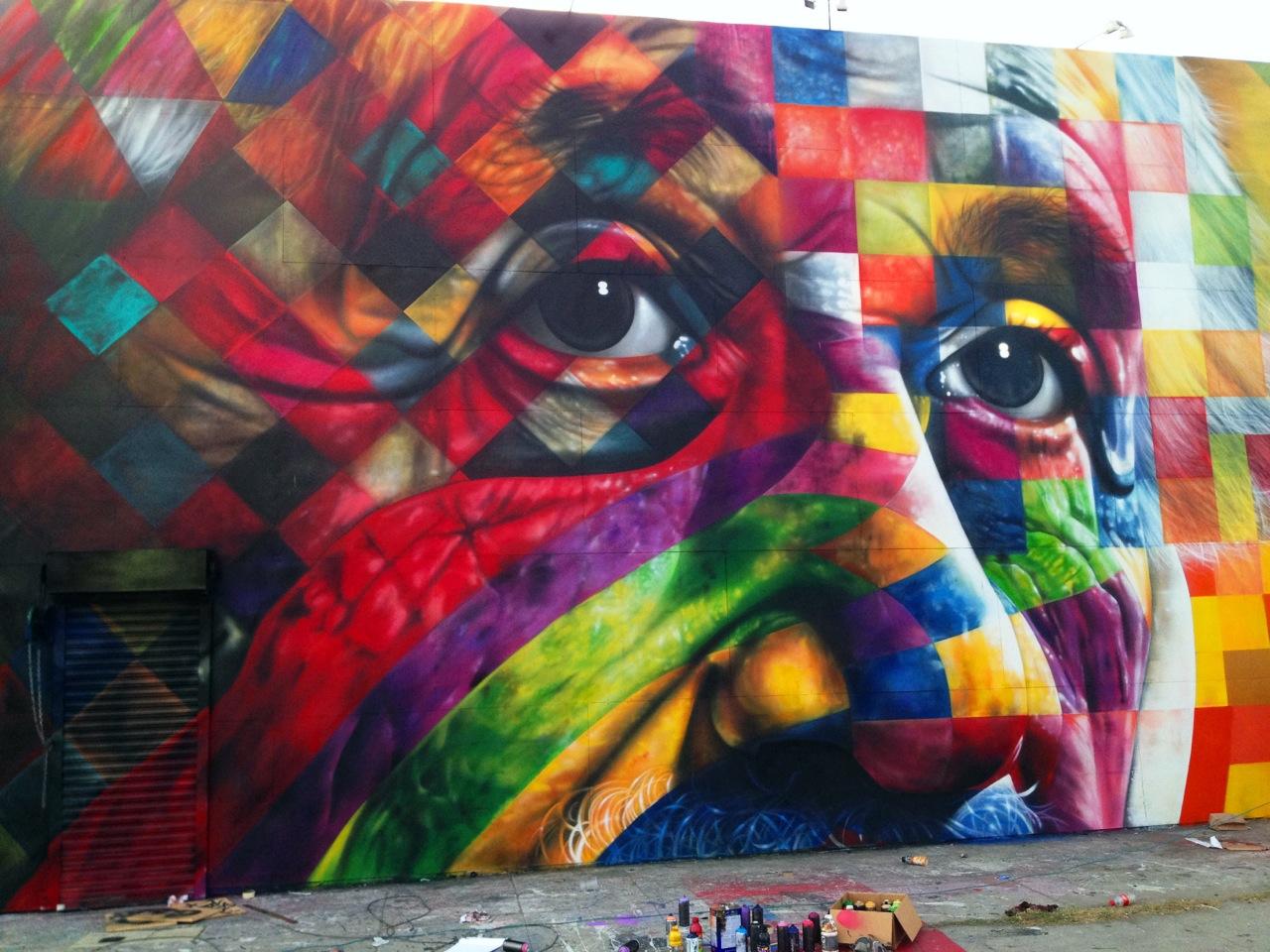 Fantásticas Obras de Arte Urbano Fantásticas Obras de Arte Urbano decorar una casa eduardo kobra mural 2
