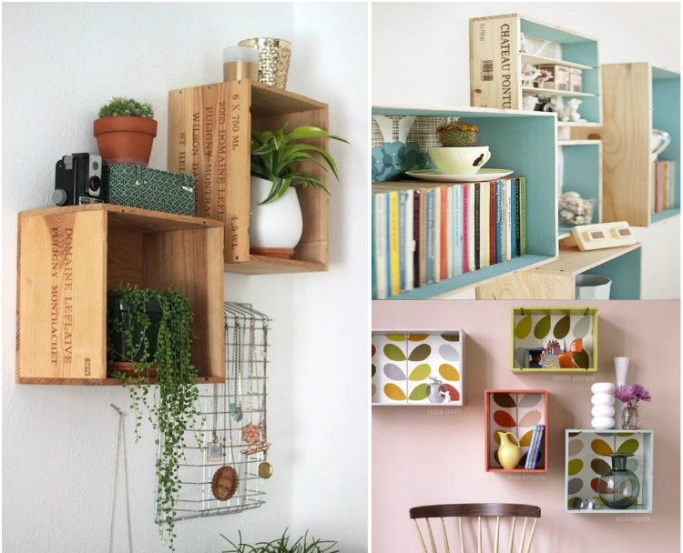 decorar las paredes Las 10 ideas más creativas para decorar las paredes cajas pared