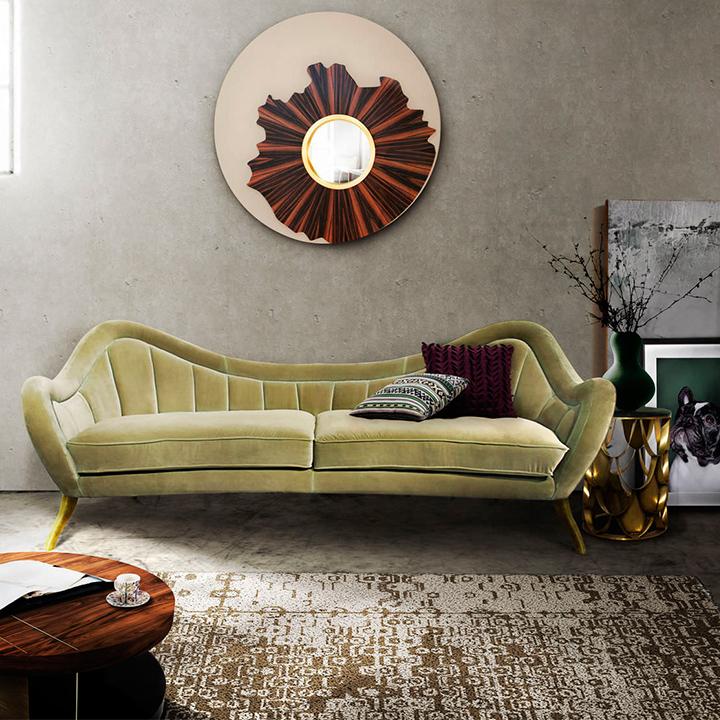 sofas-terciopelo-  Dale vida a tu juego de sala: coloridos sofás de terciopelo sofas terciopelo 06