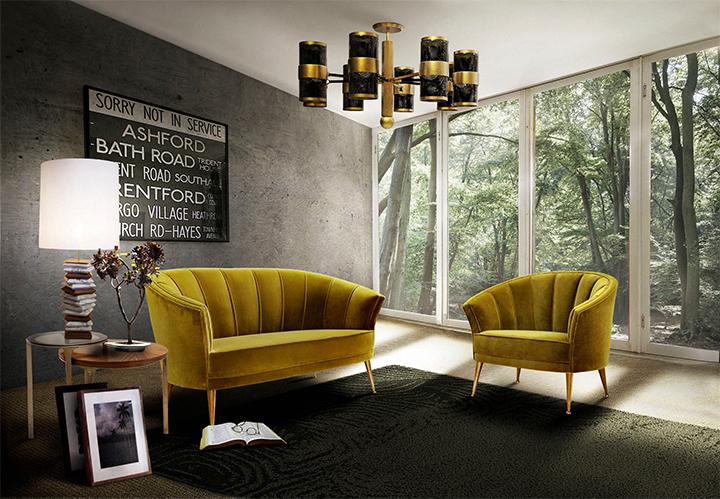 Dale vida a tu juego de sala: coloridos sofás de terciopelo ...