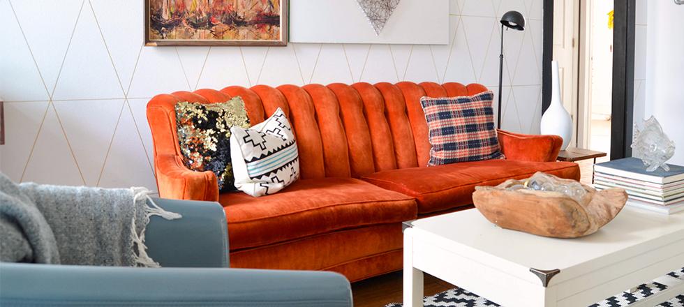 Cómo modernizar una sala de estar con sofás coloridos modernizar sala sofas color 1