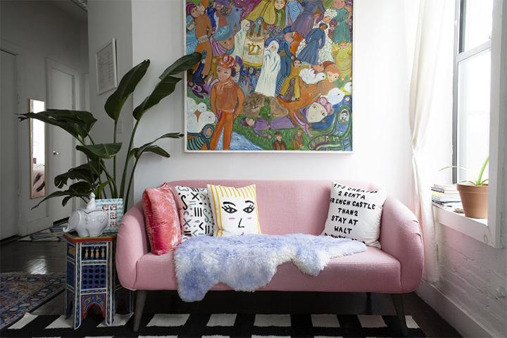 modernizar-sala-sofas-color-5  Cómo modernizar una sala de estar con sofás coloridos modernizar sala sofas color 5