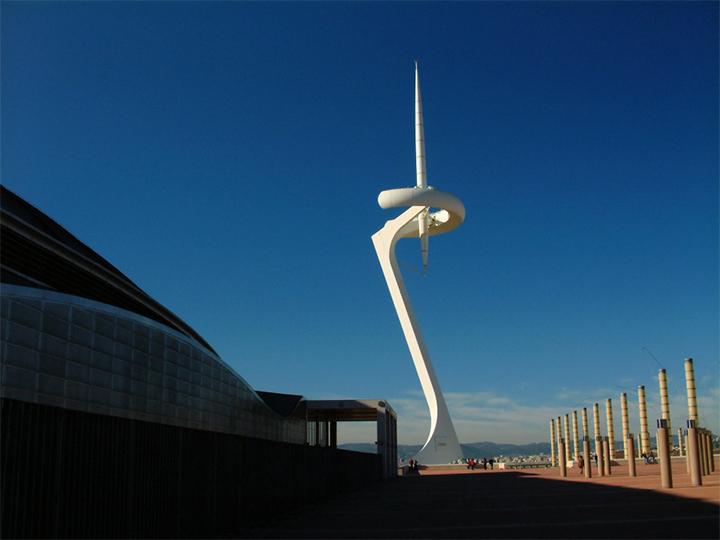 santiago calatrava  TOP arquitectos | SANTIAGO CALATRAVA santiago calatrava 02 torre comunicaciones montjuic