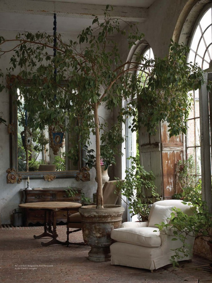 Garden Living Room Axel Vervoordt Los mejores proyectos de interiorismo de Axel Vervoordt Axel Vervoordt Garden Living Room