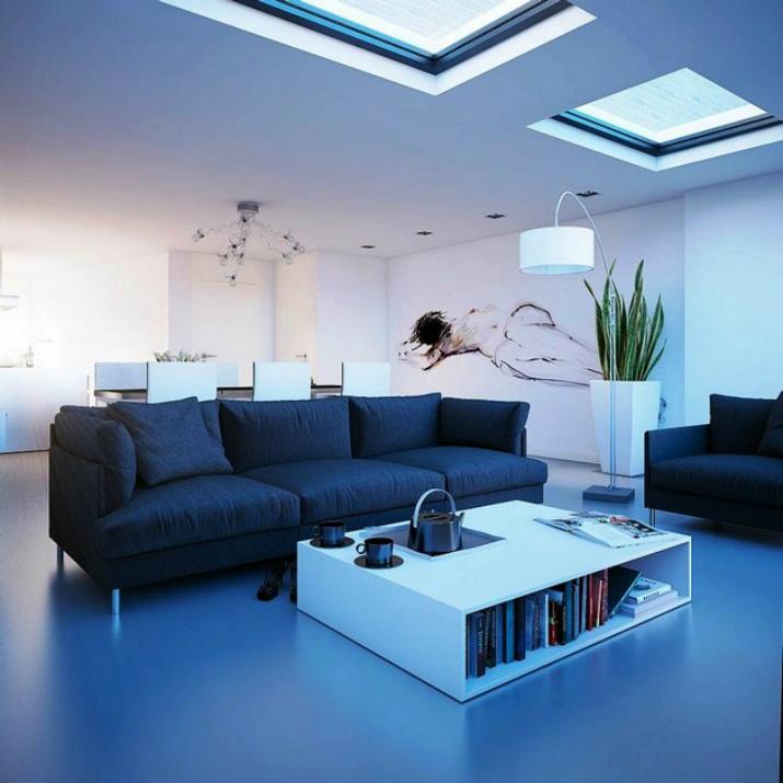 Las mejores decoraciones en azul para tu sala de estar   Las mejores decoraciones en azul para tu sala de estar 5000