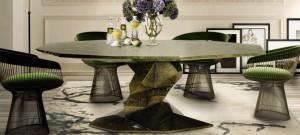 El estilo zen de la mesa de comedor Bonsai