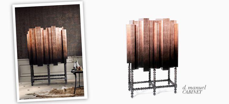 armarios lujosos  Armarios Lujosos para decorar el dormitorio principal d manuel modern copper cabinet 000