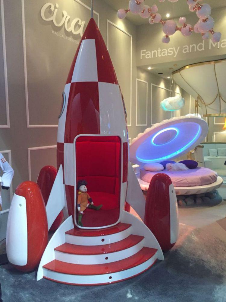 ideas para decorar el dormitorio de los niños  Mejores Ideas Para Decorar El Dormitorio de Los Niños Rocky Rocket Bed