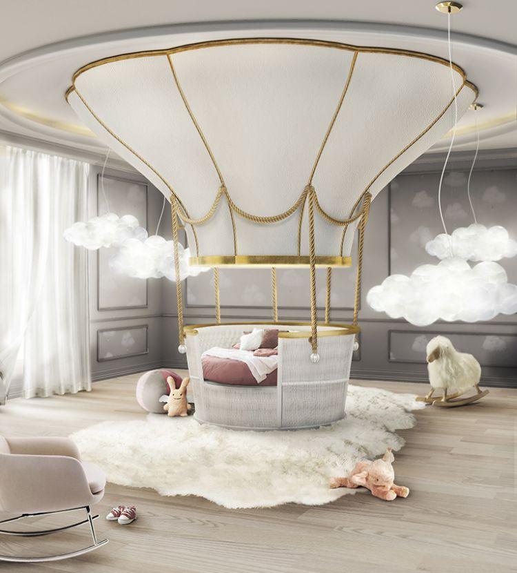 ideas para decorar el dormitorio de los niños   Mejores Ideas Para Decorar El Dormitorio de Los Niños fantasy balloon ambience circu magical furniture 01