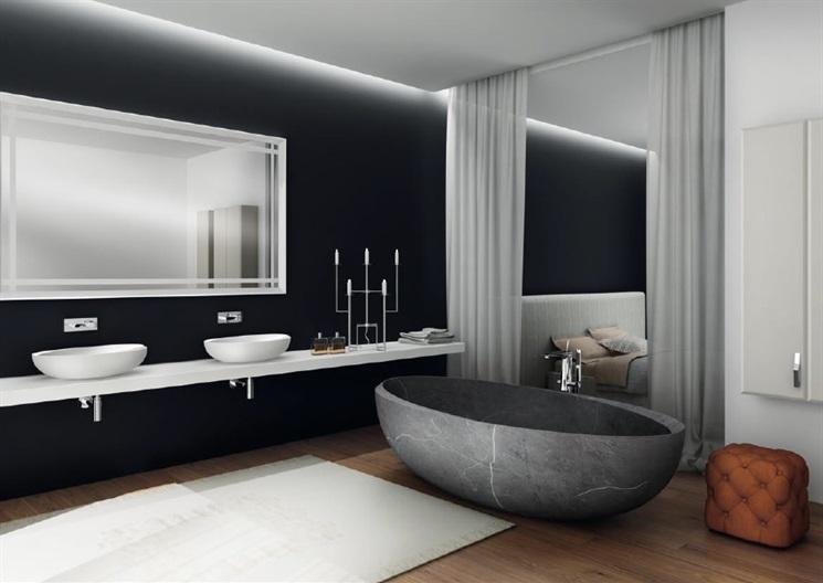 Baño de Color Negro  Ideas y Consejos Para Decorar el Baño de Color Negro carlo colombo autorittrati i bordi