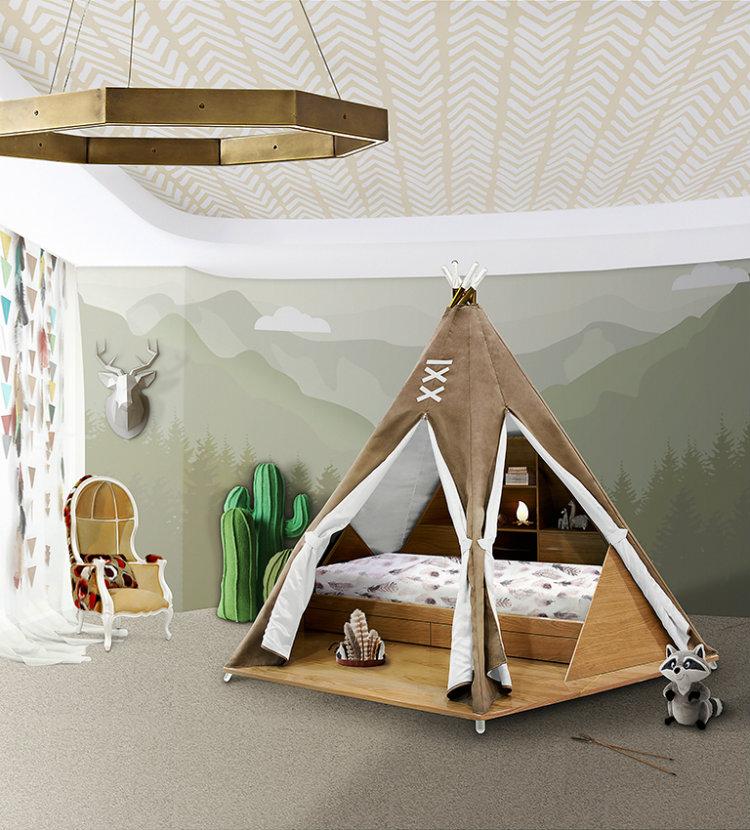 Ideas Innovadoras para Decorar el Dormitorio de los Niños teepee room