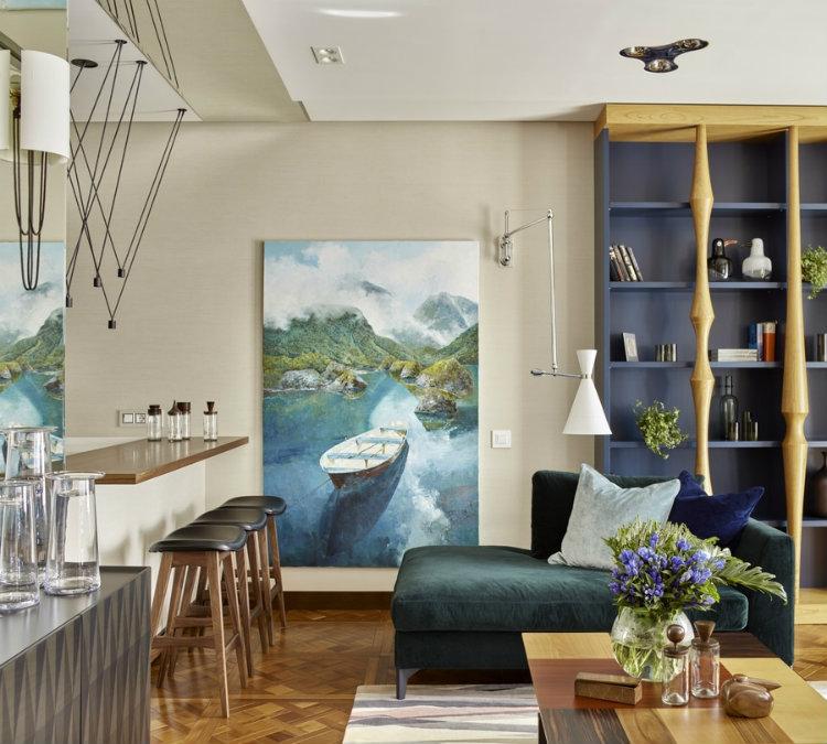 apartamento moderno  Pájaros – Impresionante Proyecto de Apartamento Moderno Y Colorido apartamento moderno