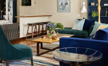 Apartamento moderno y colorido
