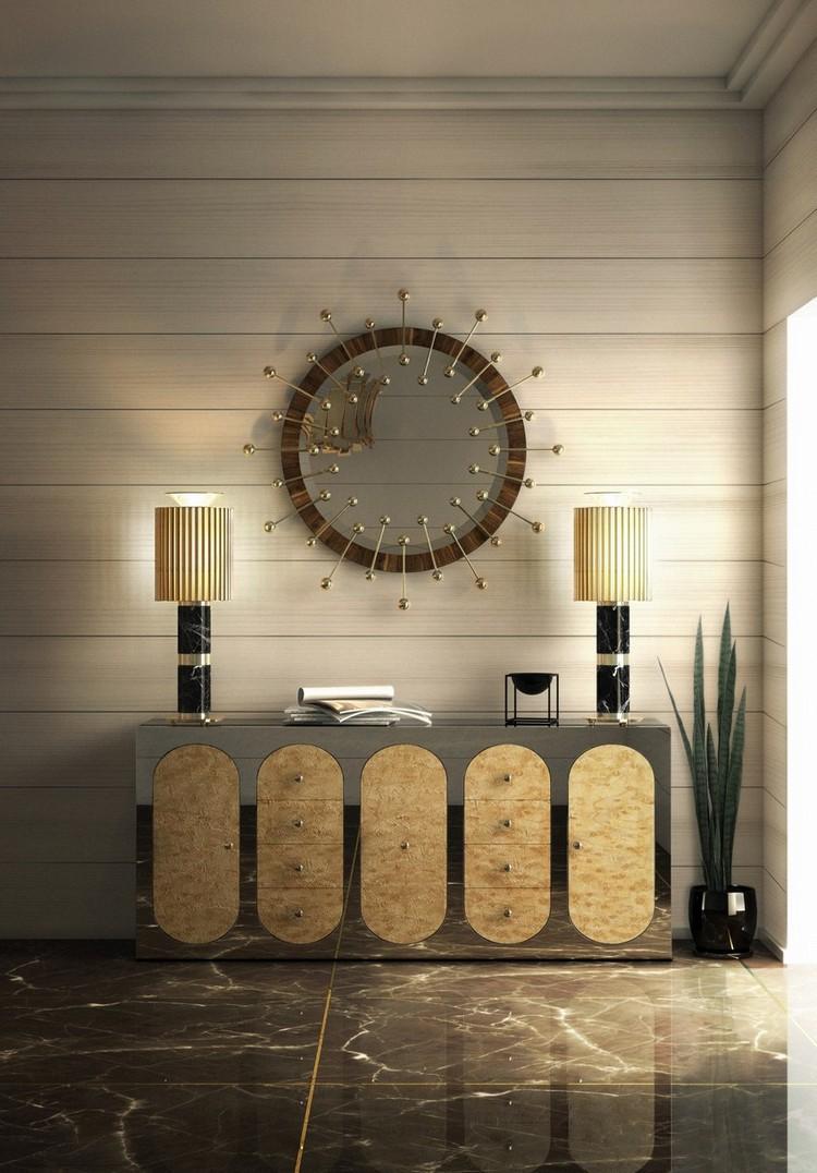 espejos modernos y de lujo1  Encántese Con Esta Preciosa Selección de Espejos Elegantes EH Hall 4