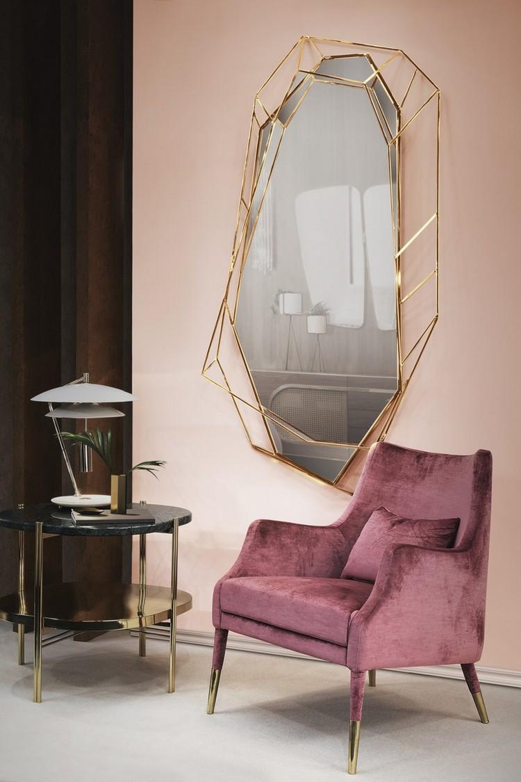 espejos modernos y de lujo1  Encántese Con Esta Preciosa Selección de Espejos Elegantes EH Living Room mar17 5
