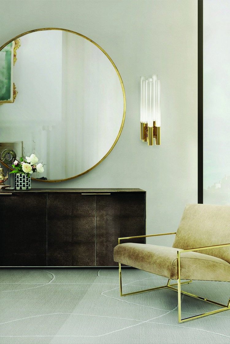 Preciosa Selección de Espejos Elegantes  Encántese Con Esta Preciosa Selección de Espejos Elegantes LX Living Room 15