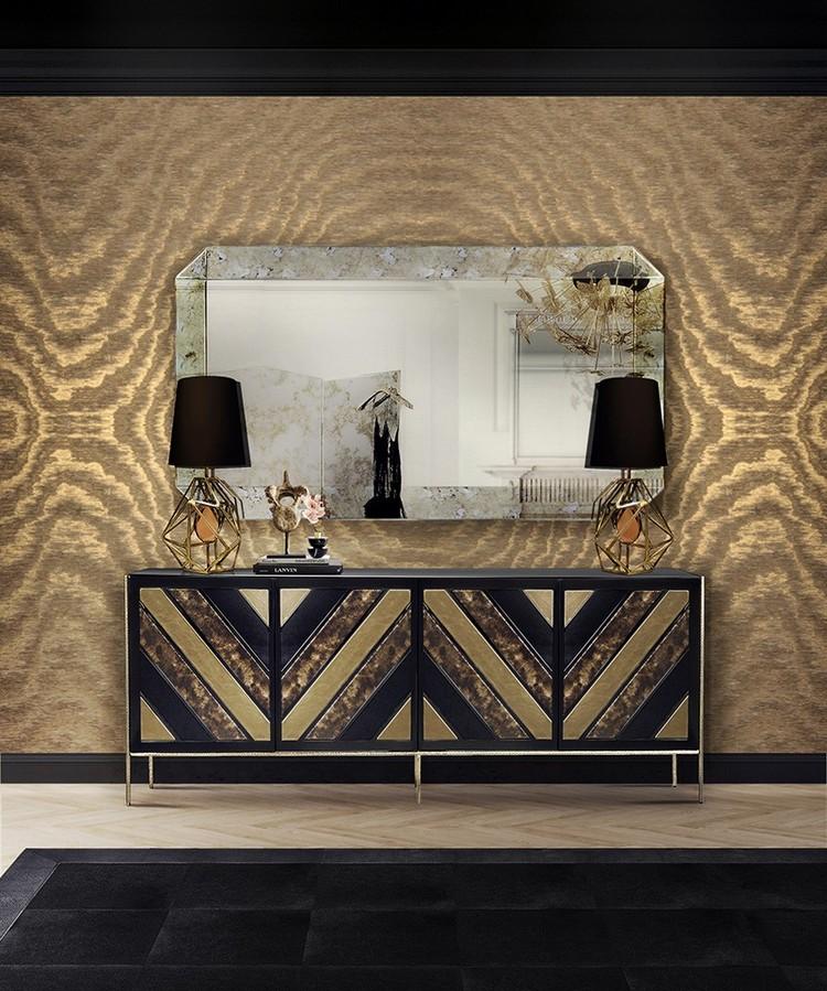 Preciosa Selección de Espejos Elegantes  Encántese Con Esta Preciosa Selección de Espejos Elegantes The Greatest Living Room Ideas with Wall Mirrors 6