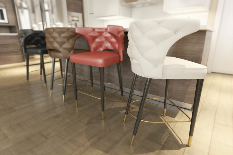 kansas bar chair  Descubra las Novedades BRABBU en el Salón del Mueble de Milán 2017 kansas bar chair