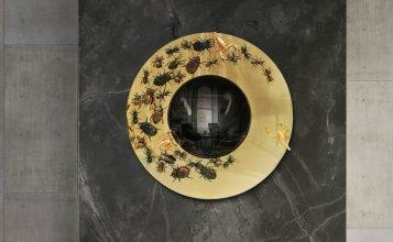 espejos de pared 5 Impressionantes Espejos de Pared que Tambíen son Piezas de Arte metamorphosis mirror hr 01 357x220