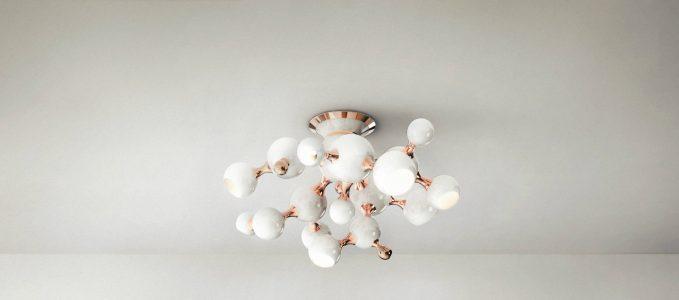 Dicas de decoración : Lámparas Blancas para la decoración de invierno