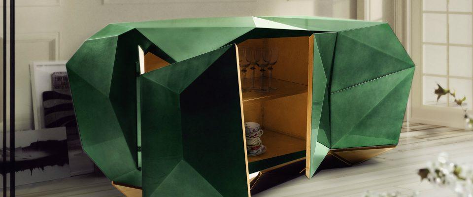 Ideas para Decorar: Aparadores coloridos para una sala de estar