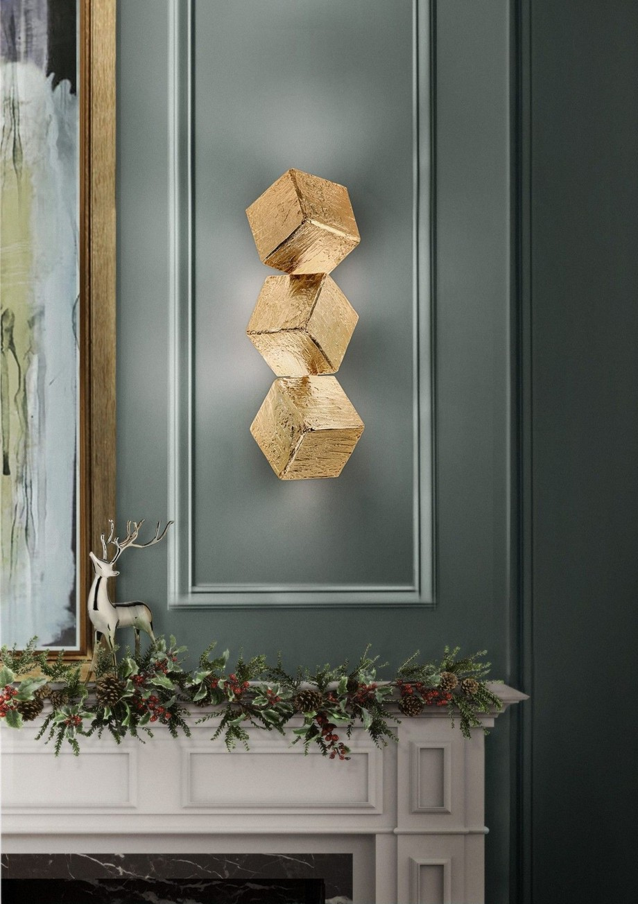 Ideas para Decorar: Tendencias de Illuminación de lujo 2019 ideas para decorar Ideas para Decorar: Tendencias de Illuminación de lujo 2019 cubic sconce