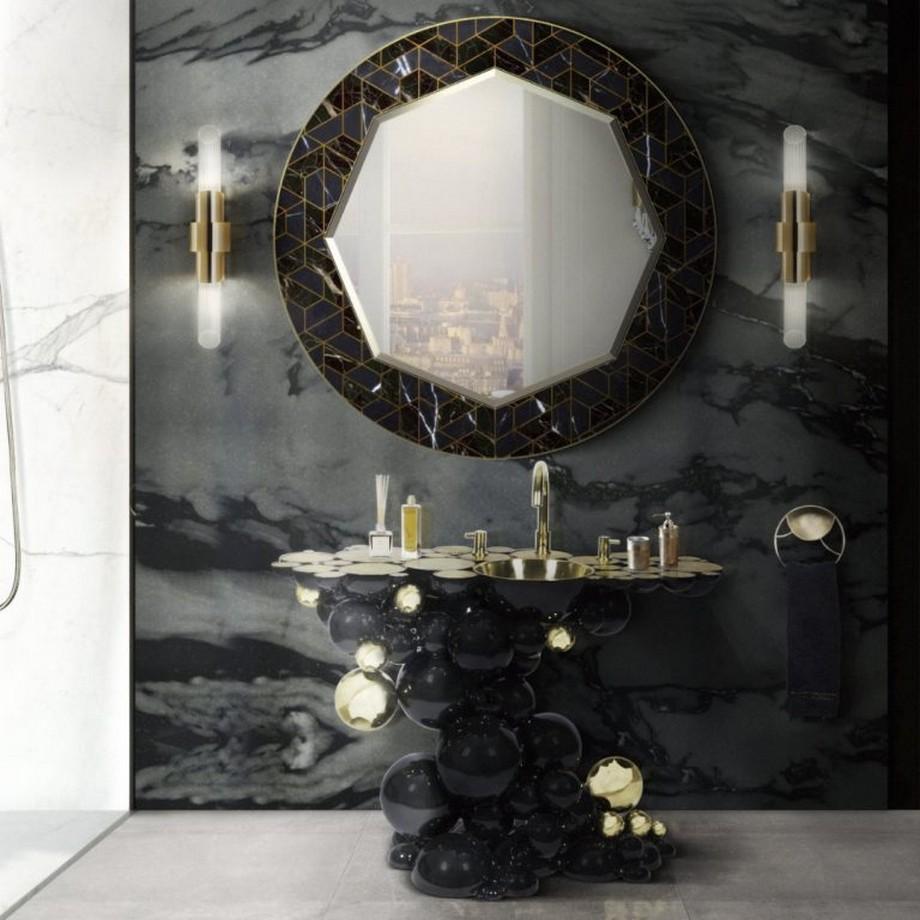 Ideas para Decorar: Tonos negros para una decoracion de cuarto de baño ideas para decorar Ideas para Decorar: Tonos negros para una decoracion de cuarto de baño 3 1 768x768
