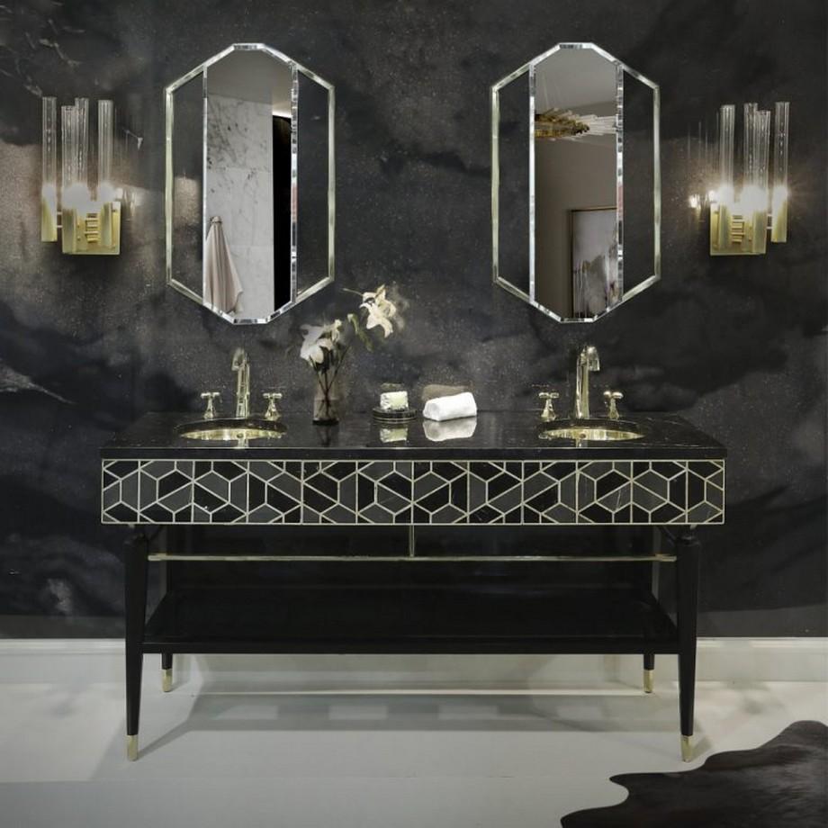 Ideas para Decorar: Tonos negros para una decoracion de cuarto de baño ideas para decorar Ideas para Decorar: Tonos negros para una decoracion de cuarto de baño 4 2 768x768
