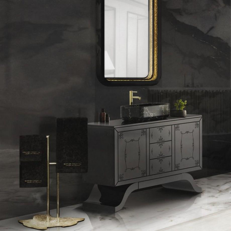 Ideas para Decorar: Tonos negros para una decoracion de cuarto de baño ideas para decorar Ideas para Decorar: Tonos negros para una decoracion de cuarto de baño 6 768x768