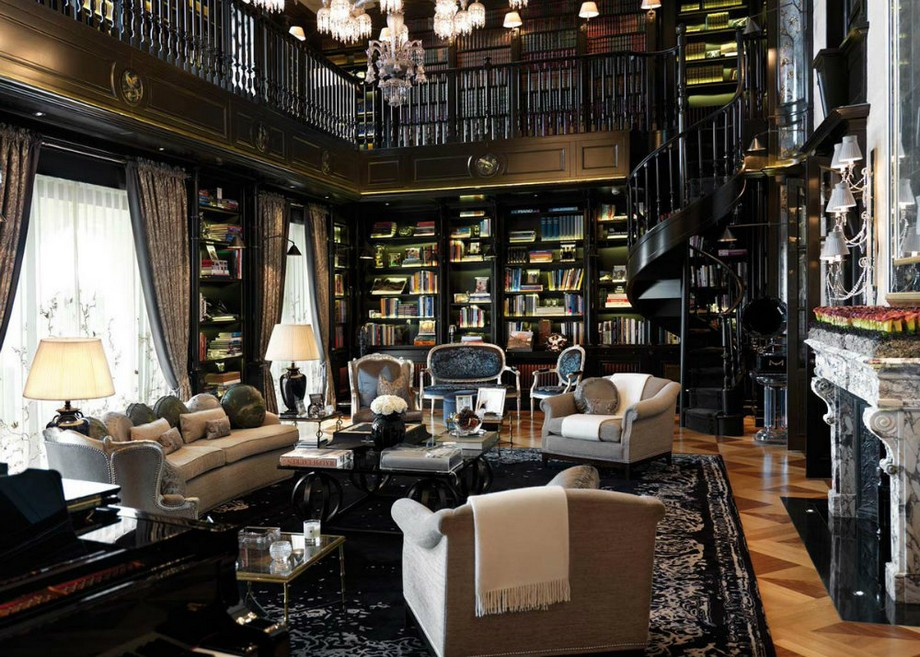 ideas para decorar Ideas para Decorar: biblioteca de lujo para un proyecto de casa 6 Ideas For A Luxury Home Library 04