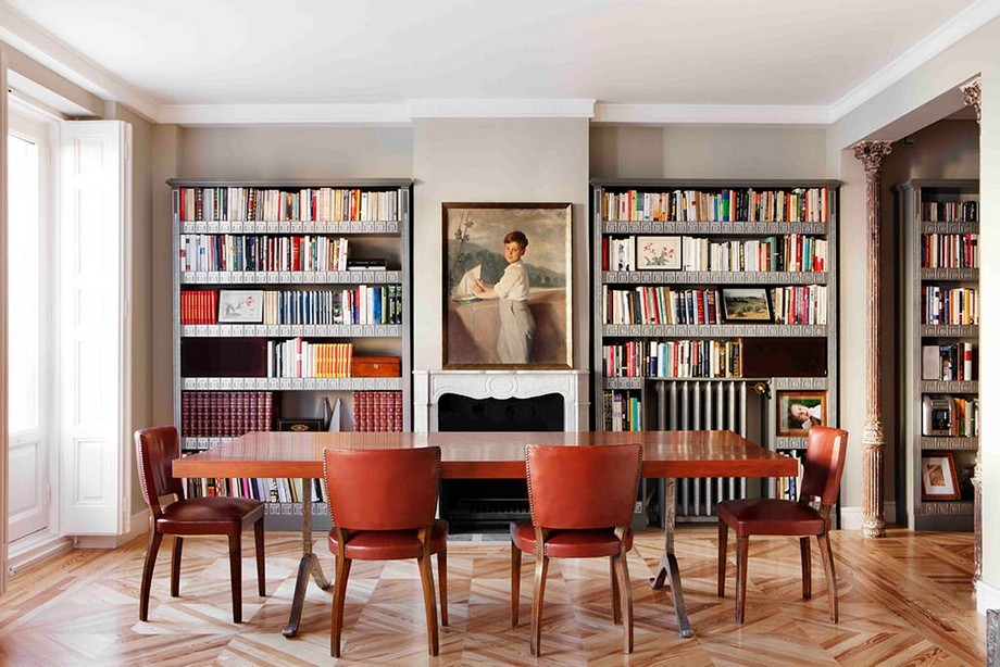 Interiorismo de lujo: Inés Benavides un estudio de lujo en Madrid interiorismo de lujo Interiorismo de lujo: Inés Benavides un estudio de lujo en Madrid Comedor libreria