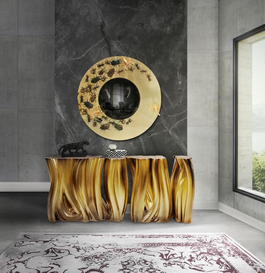 Aparadores de lujo: Piezas unicas para un proyecto perfecto aparadores de lujo Aparadores de lujo: Piezas unicas para un proyecto perfecto ambience monochrome gold boca do lobo