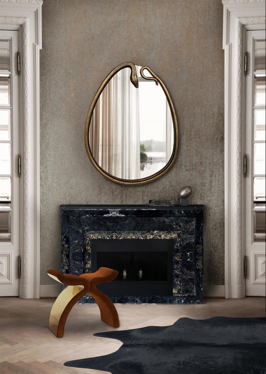 Piezas de lujo: Espejos para una decoración lujuosa piezas de lujo Piezas de lujo: Espejos para una decoración lujuosa serpentine mirror koket projects